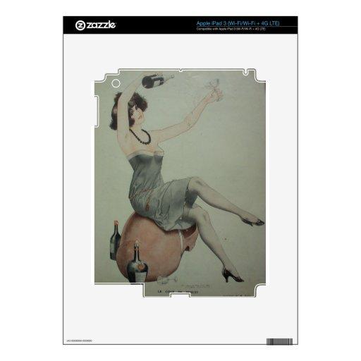 1920s Flapper Champagne Girl iPad 3 Decal