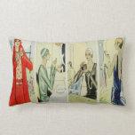 1920's Flapper Elegance Throw Pillow