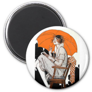 1920s Flapper Fashion Magnet