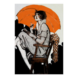1920s Flapper Fashion Poster
