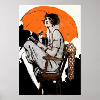 1920s Flapper Fashion Poster