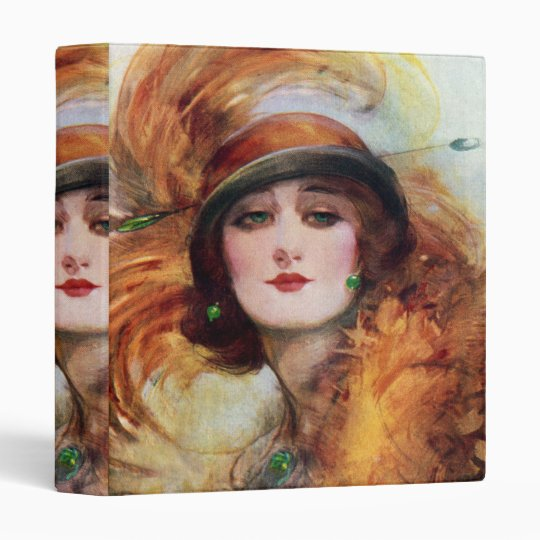 1920s Flapper Fashion Pretty Woman Binder