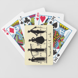 1920's Flapper Fashion Silhouette Playing Cards
