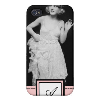 1920s Flapper Girl Fashion iPhone Case & Monogram iPhone 4 Covers