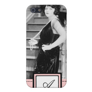 1920s Flapper Girl Fashion iPhone Case & Monogram iPhone 5 Covers