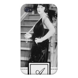 1920s Flapper Girl Fashion iPhone Case & Monogram Cover For iPhone 4