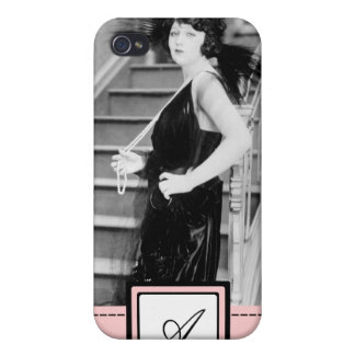 1920s Flapper Girl Fashion iPhone Case & Monogram Case For iPhone 4