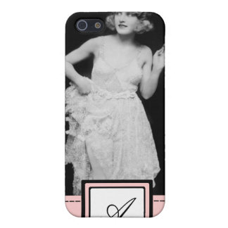 1920s Flapper Girl Fashion iPhone Case & Monogram iPhone 5 Case