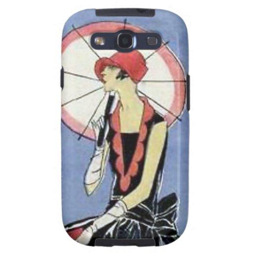 1920s Flapper with Umbrella Galaxy S3 Cover
