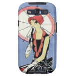 1920s Flapper with Umbrella Galaxy S3 Cover