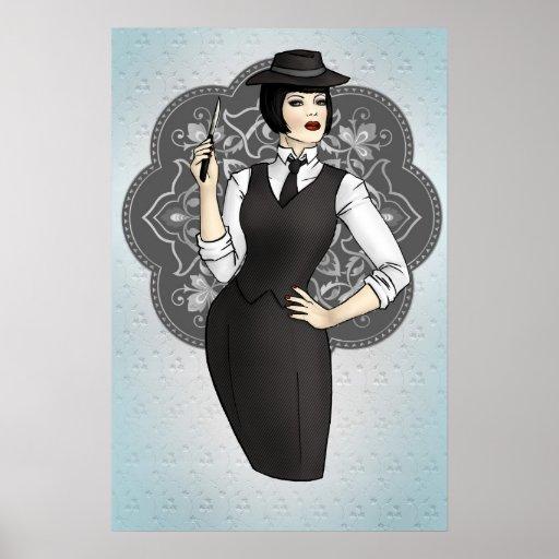 1920s Gangster Girl Print