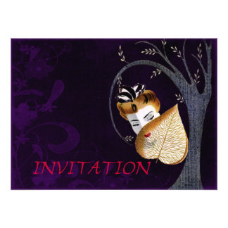 1920's Geisha Girl And Leaf Custom Invite