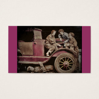 1920's Girl Auto Mechanics Business Card