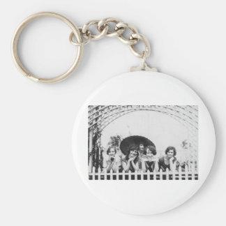 1920's Girl Talk Basic Round Button Keychain