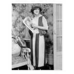 1920s Golf Fashion Postcard