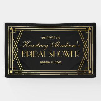 1920s Great Gatsby Art Deco Bridal Shower Banner