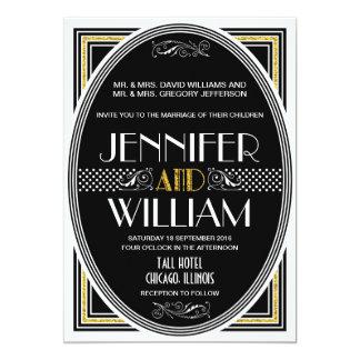 "1920's Great Gatsby Wedding Invitations 5"" X 7"" Invitation Card"