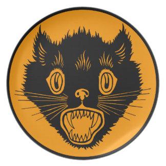 1920s Halloween Black Cat Plate