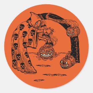 1920s Halloween Conjuring Spectre Classic Round Sticker