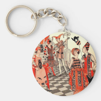 1920's Halloween Costume Party Basic Round Button Keychain