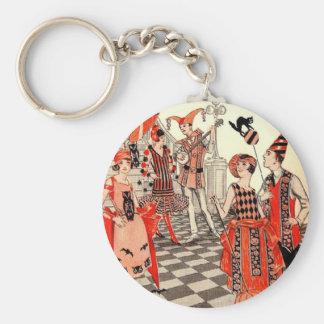 1920's Halloween Costume Party Basic Round Button Keychain