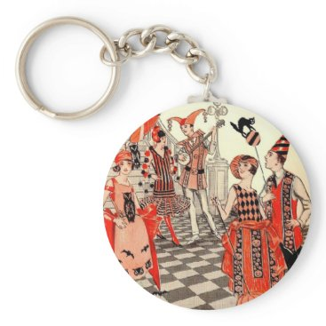 Cardgallery 1920's Halloween Costume Party Keychain