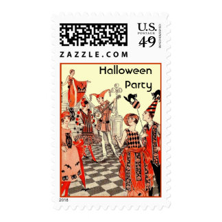 1920's Halloween Costume Party Stamp