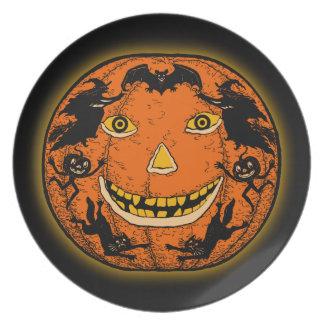 1920s Halloween Jack O'Lantern Plate