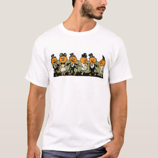 1920s Halloween Pumpkin People T-Shirt