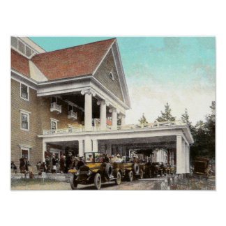 1920s Haynes automobiles at Lake Hotel Yellowstone Poster