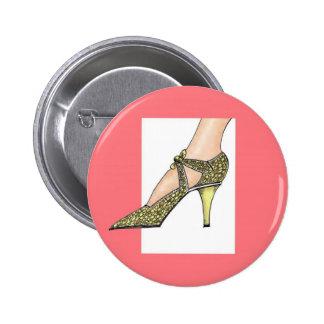 1920s High Heeled Shoe Buttons