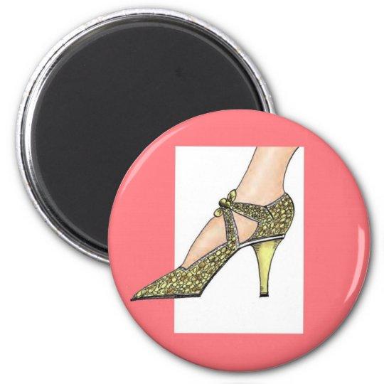 1920s High Heeled Shoe Magnet