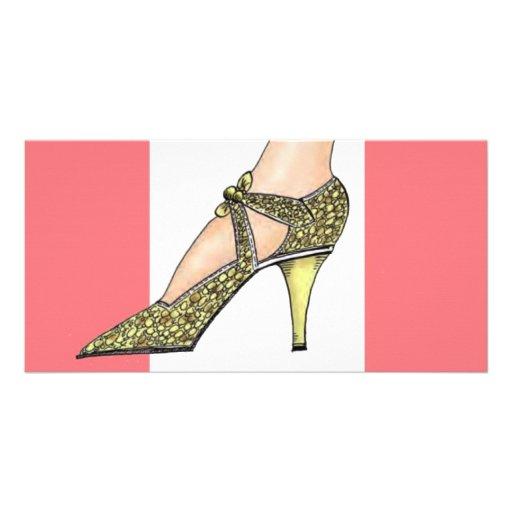 1920s High Heeled Shoe Photo Card Template