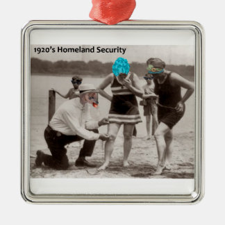 1920's Homeland Security Metal Ornament