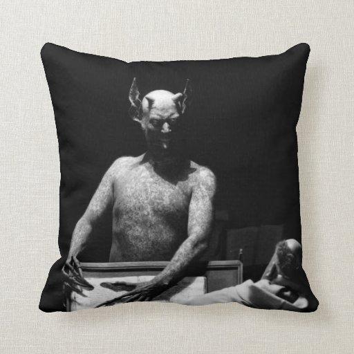 "1920s horror ""Haxan"" Throw Pillows"