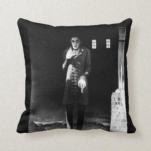 "1920s horror ""Nosferatu"" Pillow"