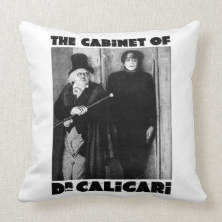 """1920s horror """"The Cabinet of Dr. Caligari """" Throw Pillows"""