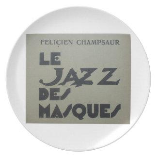 1920s Jazz Des Masques Dinner Plates