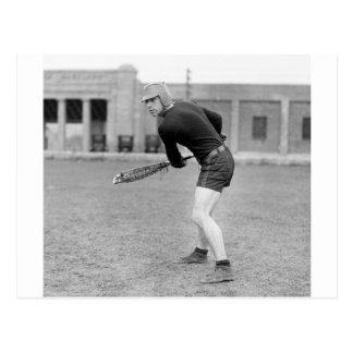 1920s Lacrosse Player Postcard
