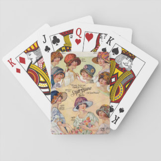 1920's Ladies Hat Styles Playing Cards