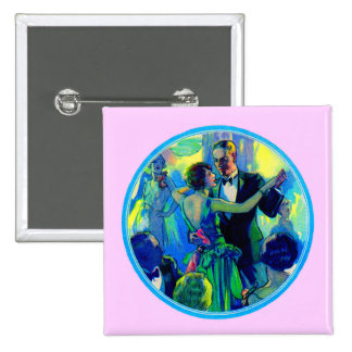1920s lady and gentleman on the dance floor pinback button