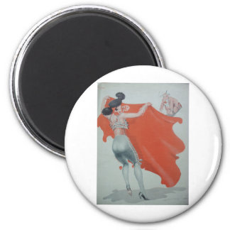 1920s Lady Bullfighter Holds Them Off Refrigerator Magnets
