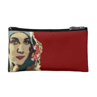 1920s Lady in a Blue Hat Makeup Bag