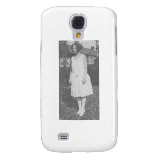 1920's Lady in White Dress Galaxy S4 Case