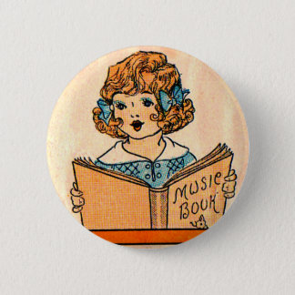 1920s little girl with music book button