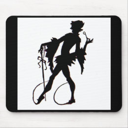 1920s magician silhouette mouse pad