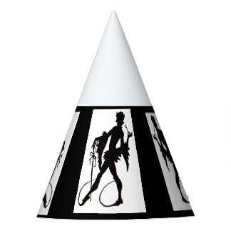 1920s magician silhouette party hat