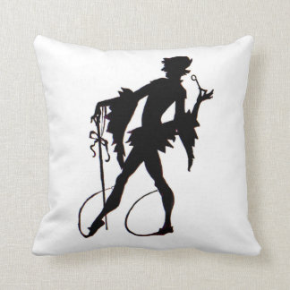 1920s magician silhouette throw pillow