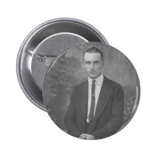 1920's Man Standing Pinback Button