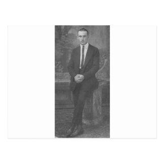 1920's Man Standing Postcard